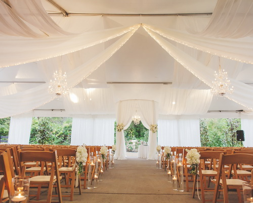 tent draping rentals wedding option