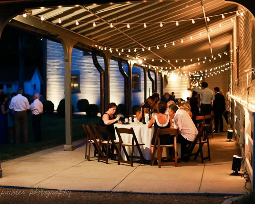 Outside seating nashville wedding